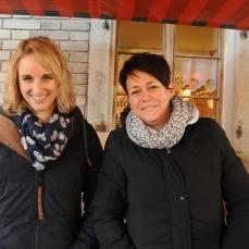 Bettina & Gabi unsere zwei fleissigen Standbetreiberinnen