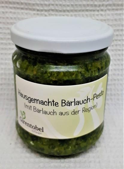 saisonal hausgemachte Bärlauch Pesto mit Bärlauch aus der Region. CHF 9.-