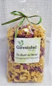 """""""Es chunt vo Härze"""", Teigwaren aus Hartweizengriess CHF 7.-"""